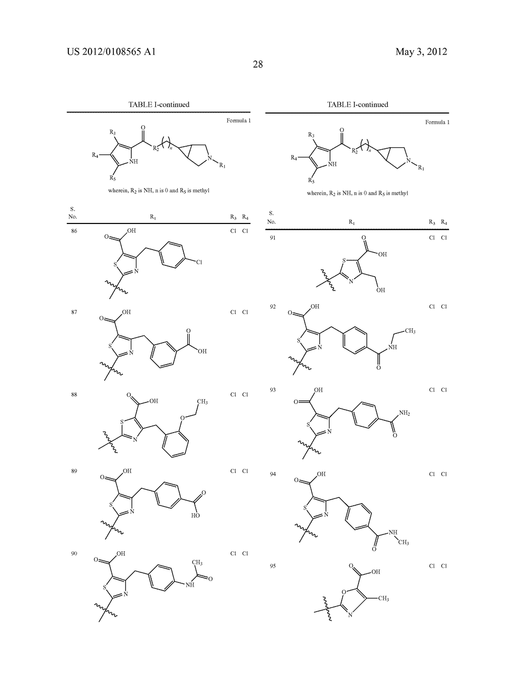 PYRROLE CARBOXYLIC ACID DERIVATIVES AS ANTIBACTERIAL AGENTS - diagram, schematic, and image 29