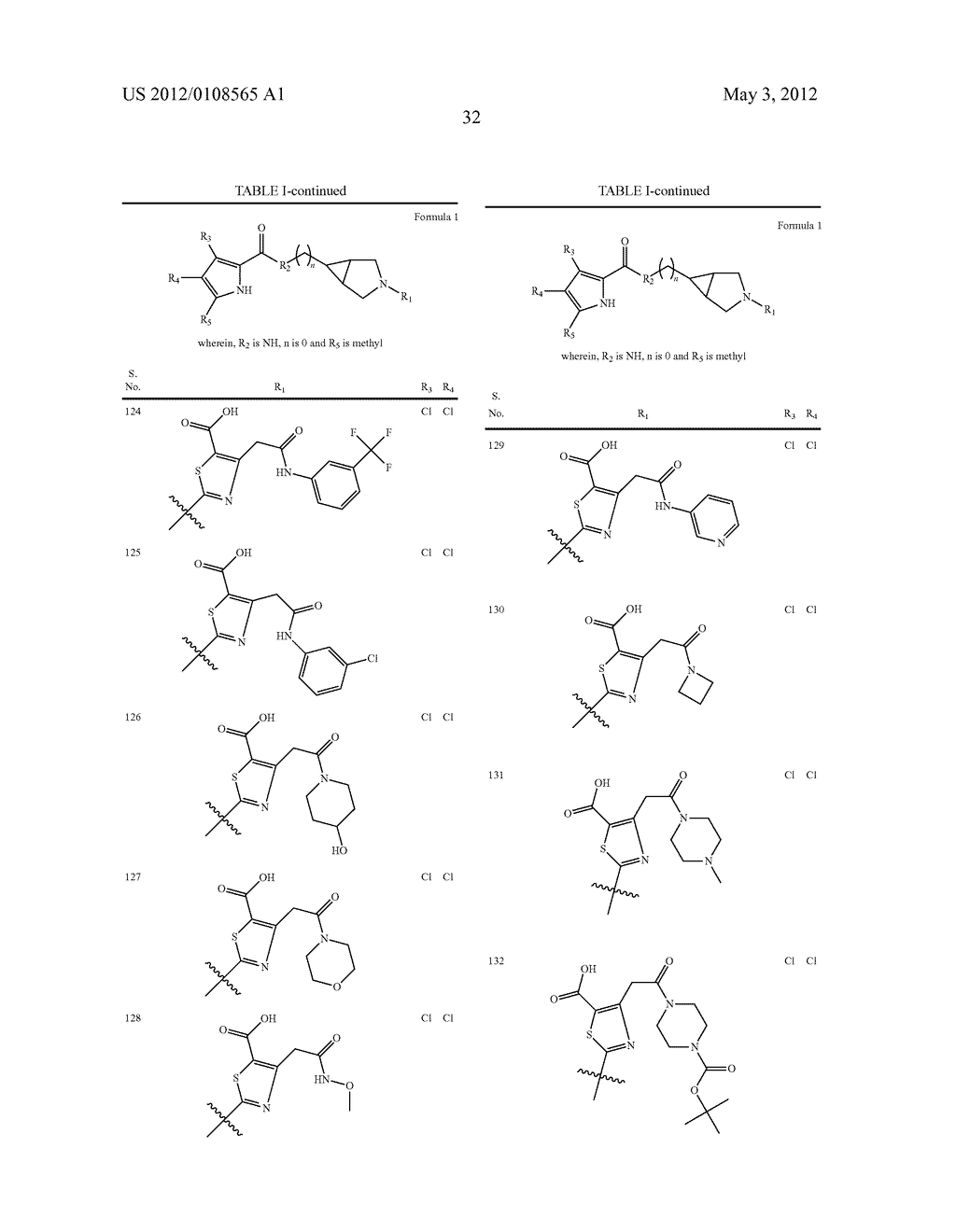 PYRROLE CARBOXYLIC ACID DERIVATIVES AS ANTIBACTERIAL AGENTS - diagram, schematic, and image 33