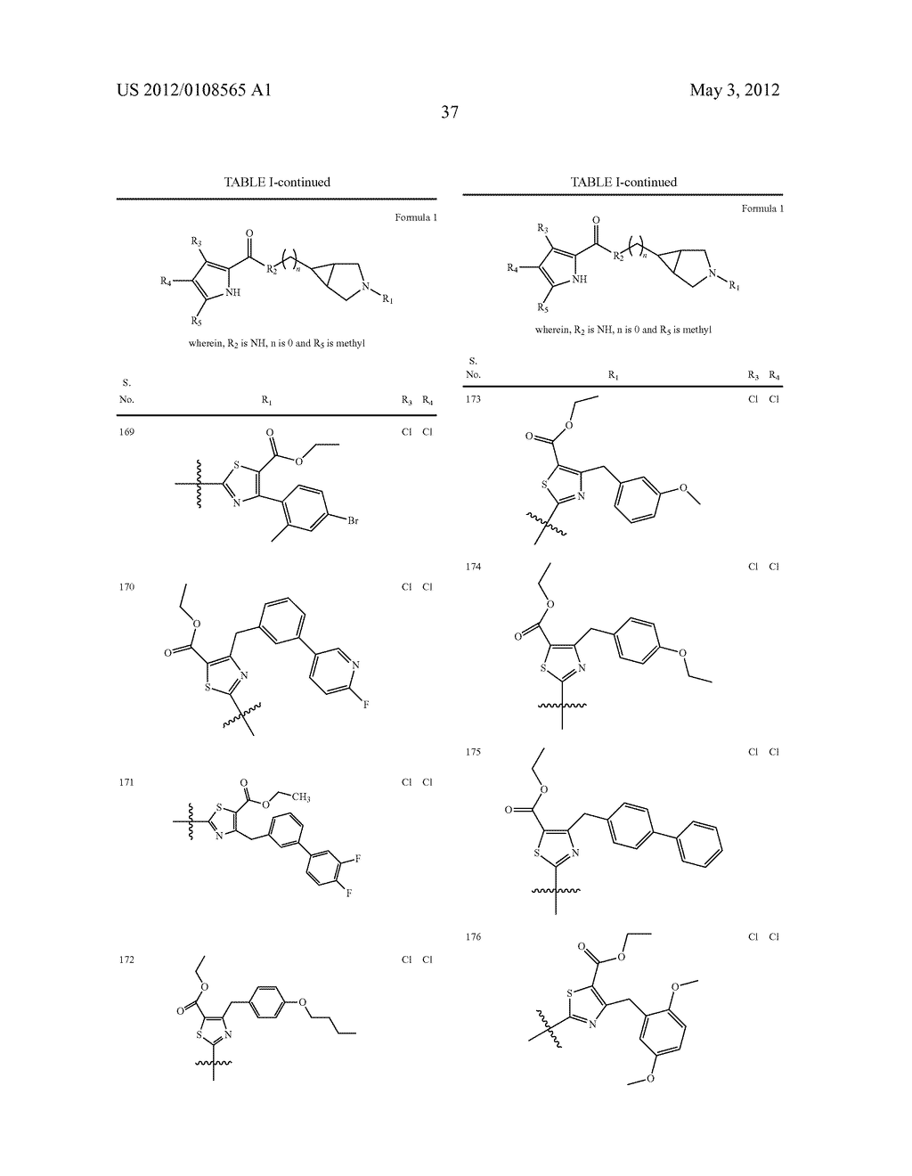 PYRROLE CARBOXYLIC ACID DERIVATIVES AS ANTIBACTERIAL AGENTS - diagram, schematic, and image 38