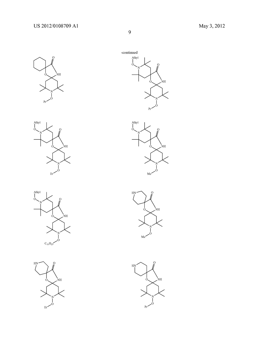 NOVEL STERICALLY HINDERED AMINE LIGHT STABILIZERS - diagram, schematic, and image 10