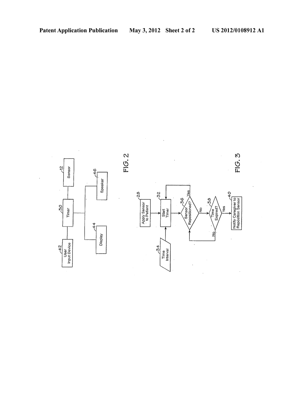 METHOD AND SYSTEM FOR DETERMINING WHEN TO REPOSITION A PHYSIOLOGICAL     SENSOR - diagram, schematic, and image 03