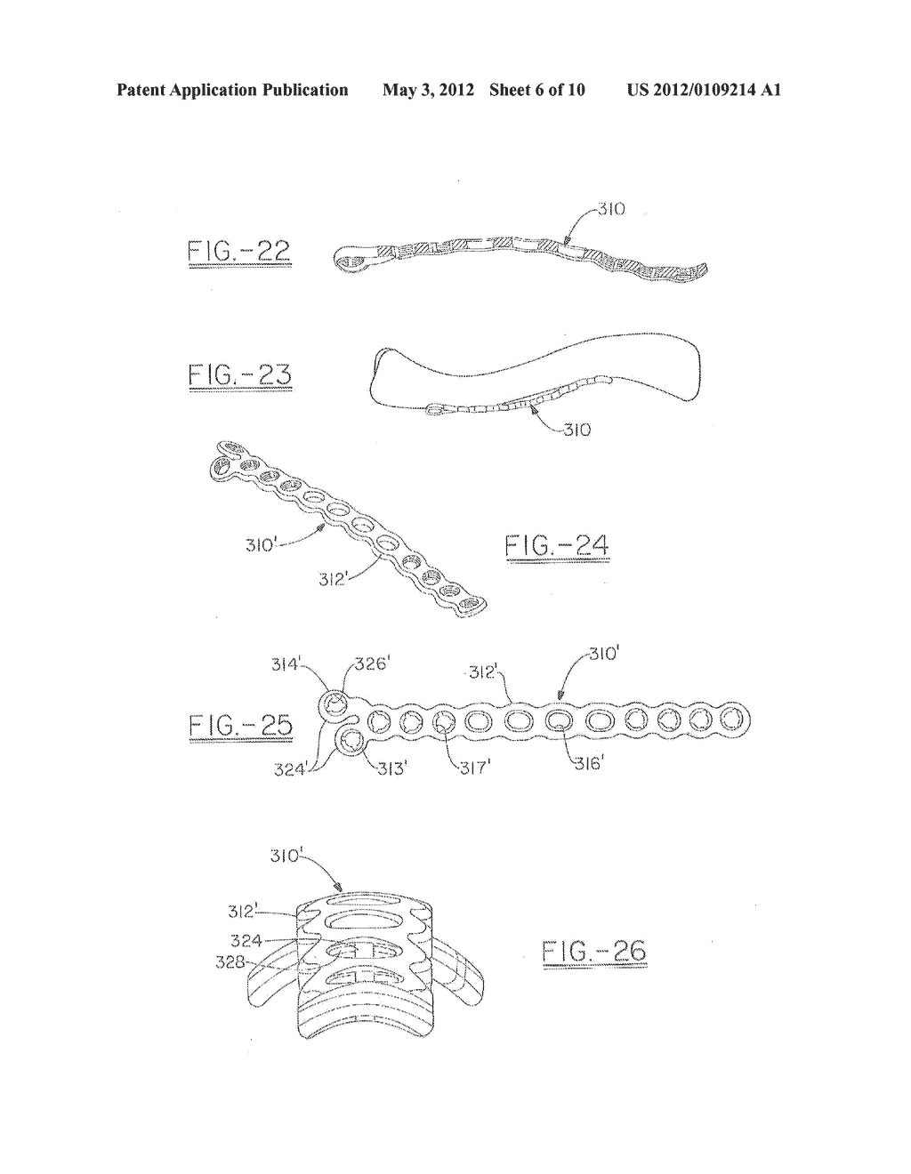 ORTHOPEDIC PLATES FOR USE IN CLAVICLE REPAIR AND METHODS FOR THEIR USE - diagram, schematic, and image 07