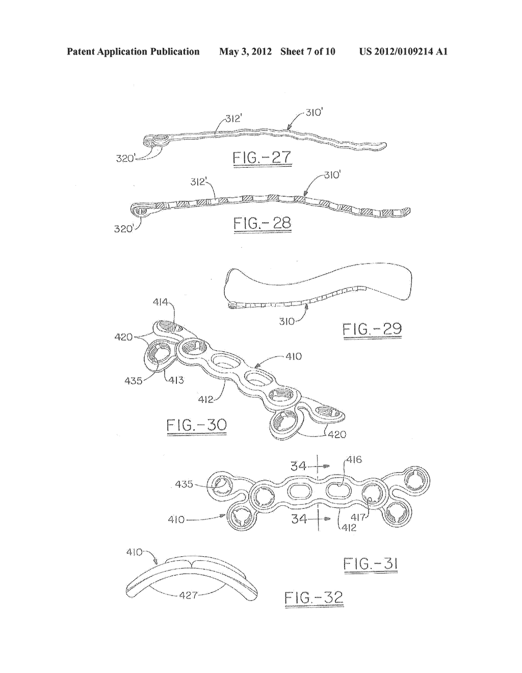 ORTHOPEDIC PLATES FOR USE IN CLAVICLE REPAIR AND METHODS FOR THEIR USE - diagram, schematic, and image 08