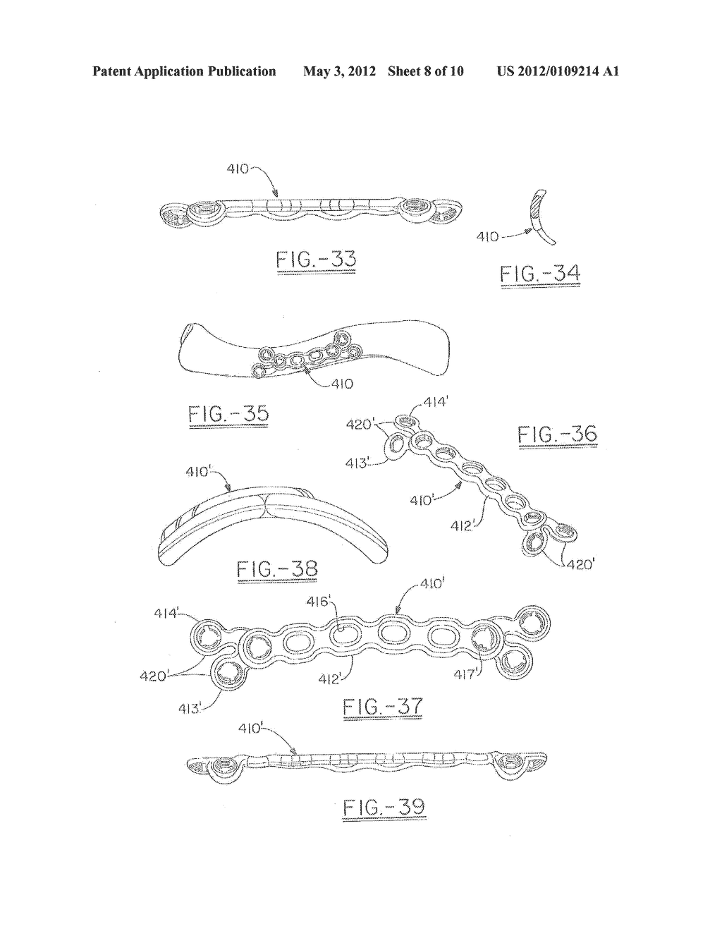 ORTHOPEDIC PLATES FOR USE IN CLAVICLE REPAIR AND METHODS FOR THEIR USE - diagram, schematic, and image 09
