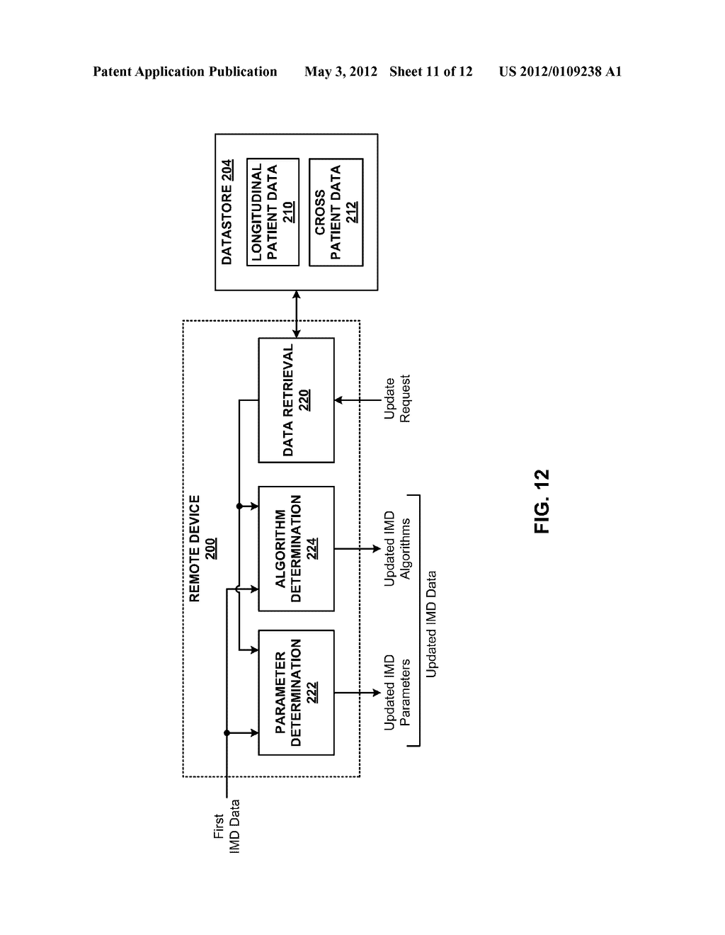 AUTOMATIC PERSONALIZATION OF PARAMETER SETTINGS AND ALGORITHMS IN A     MEDICAL DEVICE - diagram, schematic, and image 12