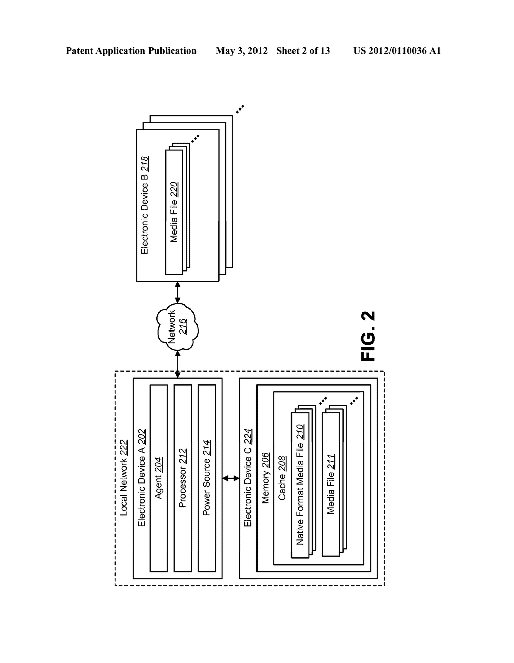 MEDIA FILE CACHING FOR AN ELECTRONIC DEVICE TO CONSERVE RESOURCE - diagram, schematic, and image 03