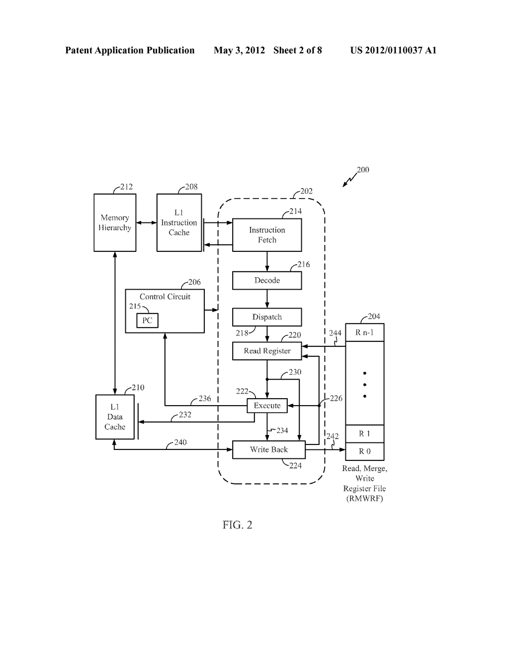 Methods and Apparatus for a Read, Merge and Write Register File - diagram, schematic, and image 03