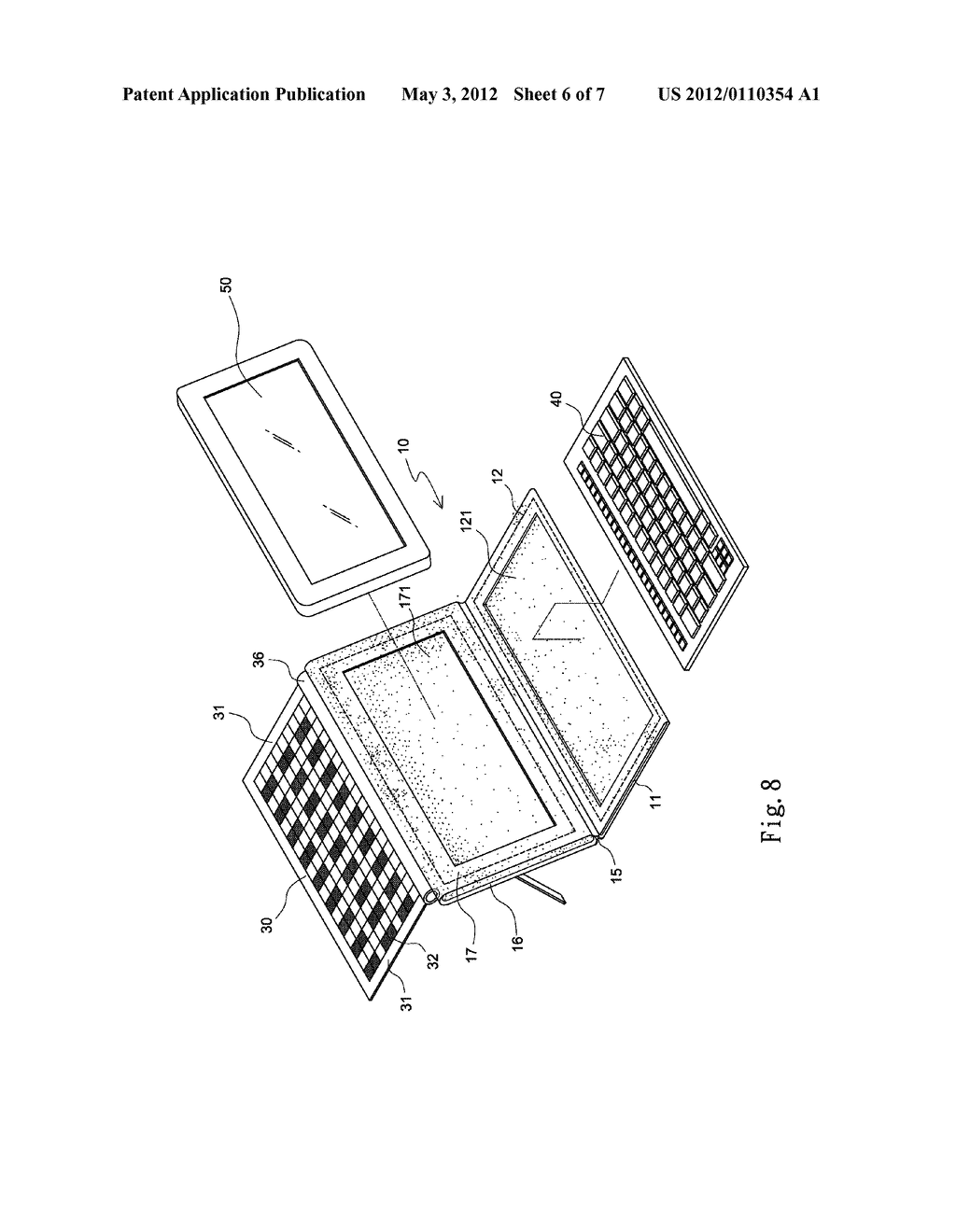 HOLDER WITH SOLAR MODULE FOR HOLDING PORTABLE ELECTRONIC DEVICES - diagram, schematic, and image 07