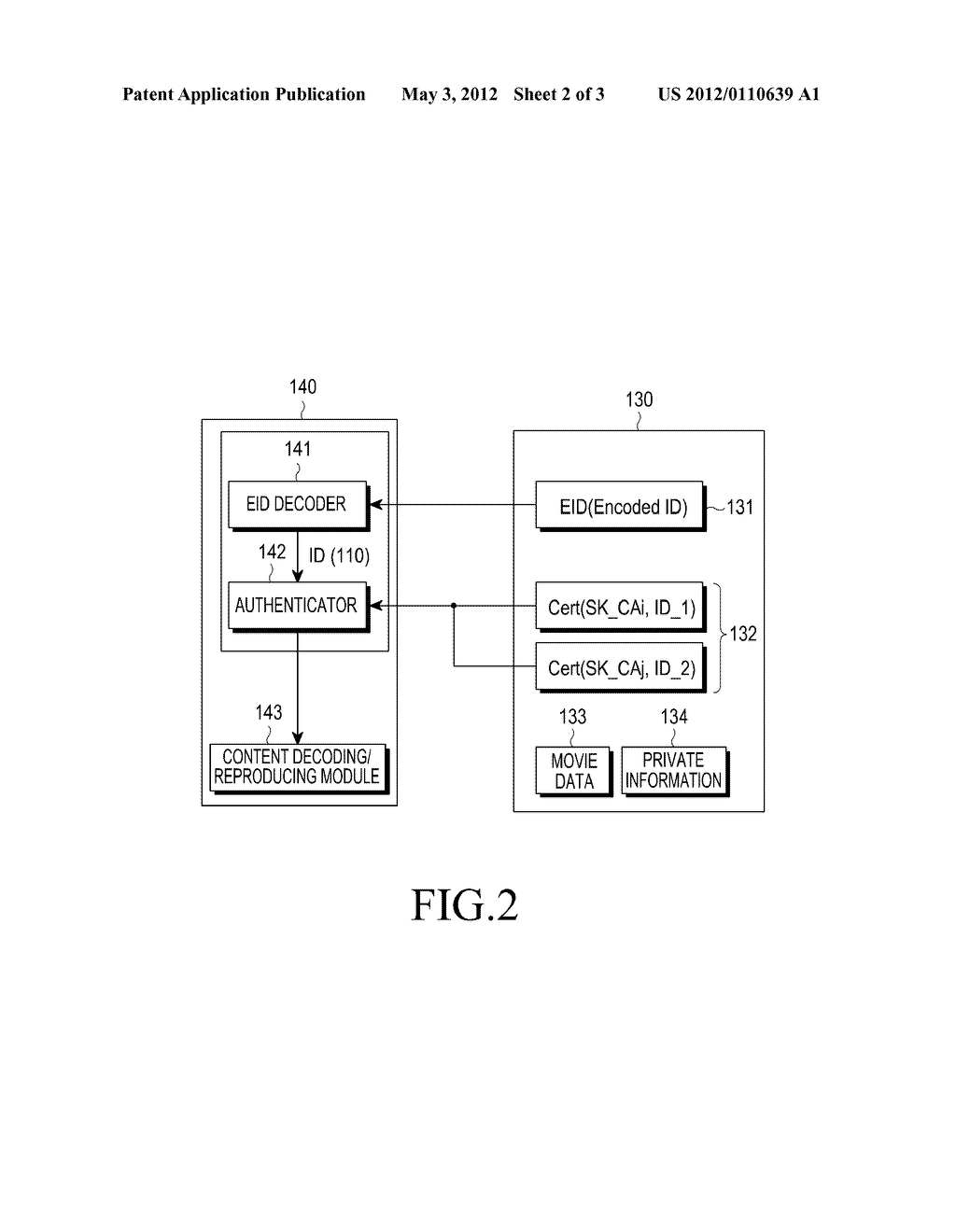 STORAGE DEVICE, AND AUTHENTICATION METHOD AND AUTHENTICATION DEVICE OF     STORAGE DEVICE - diagram, schematic, and image 03