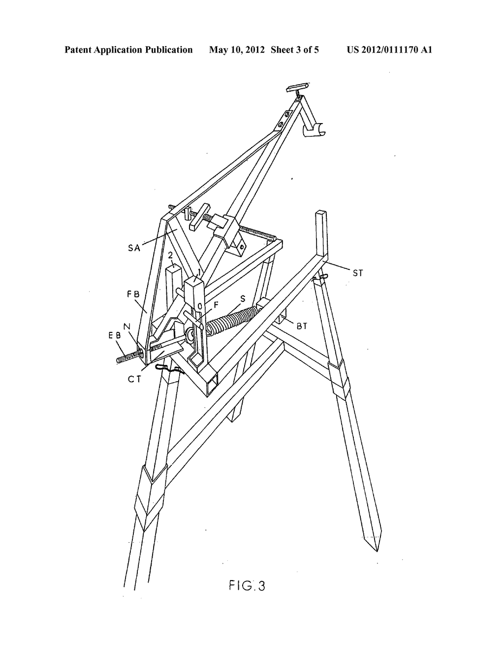 Chain saw stand - diagram, schematic, and image 04