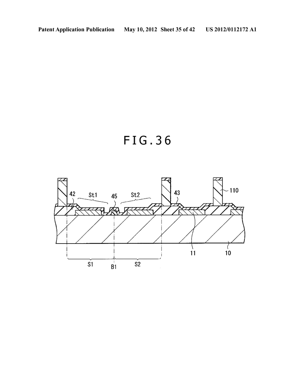 DISPLAY DEVICE, METHOD OF MANUFACTURING DISPLAY DEVICE, AND ELECTRONIC     APPARATUS - diagram, schematic, and image 36