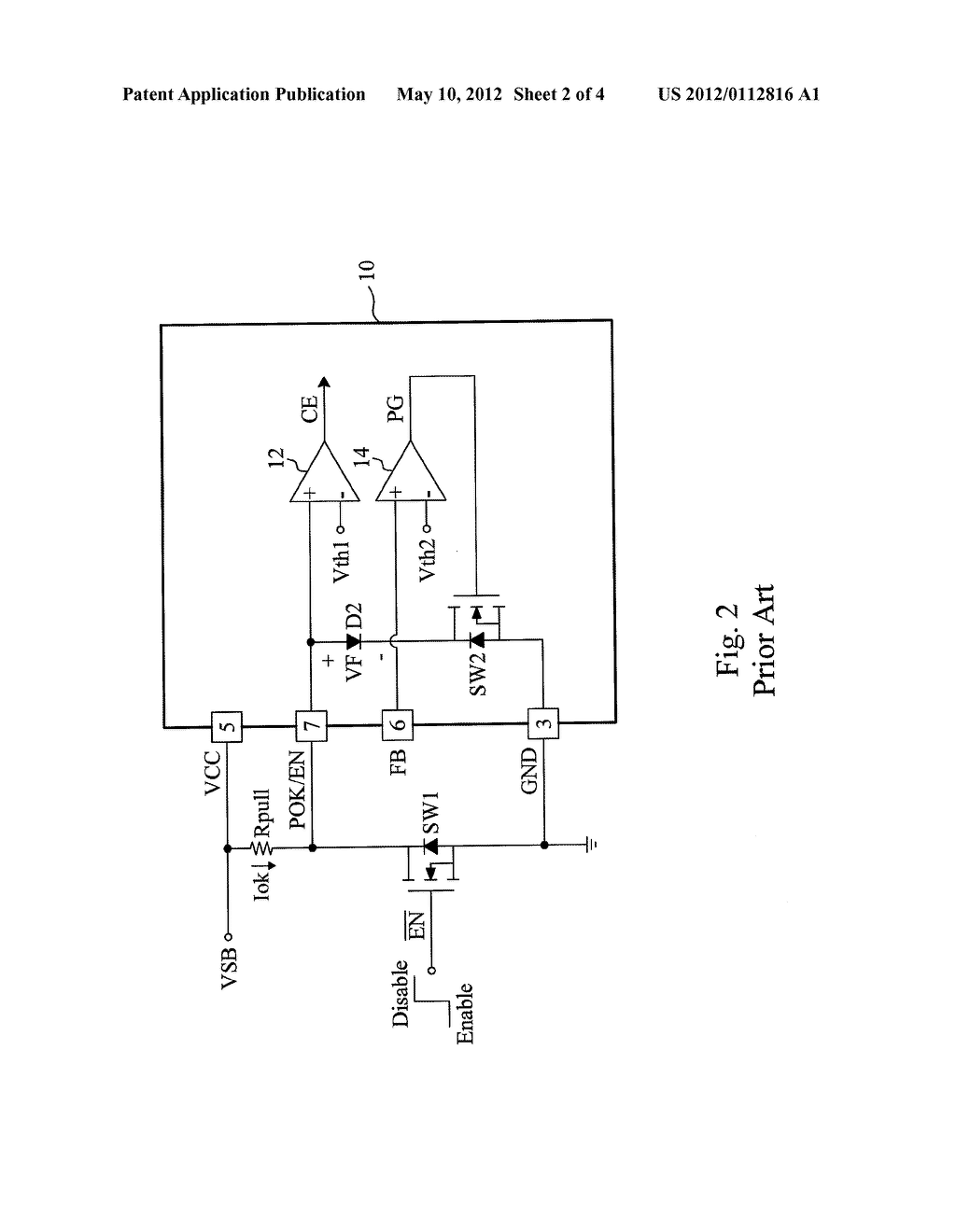 CIRCUIT AND METHOD FOR IMPLEMENTING POWER GOOD AND CHIP ENABLE CONTROL BY     A MULTI-FUNCTIONAL PIN OF AN INTEGRATED CIRCUIT - diagram, schematic, and image 03