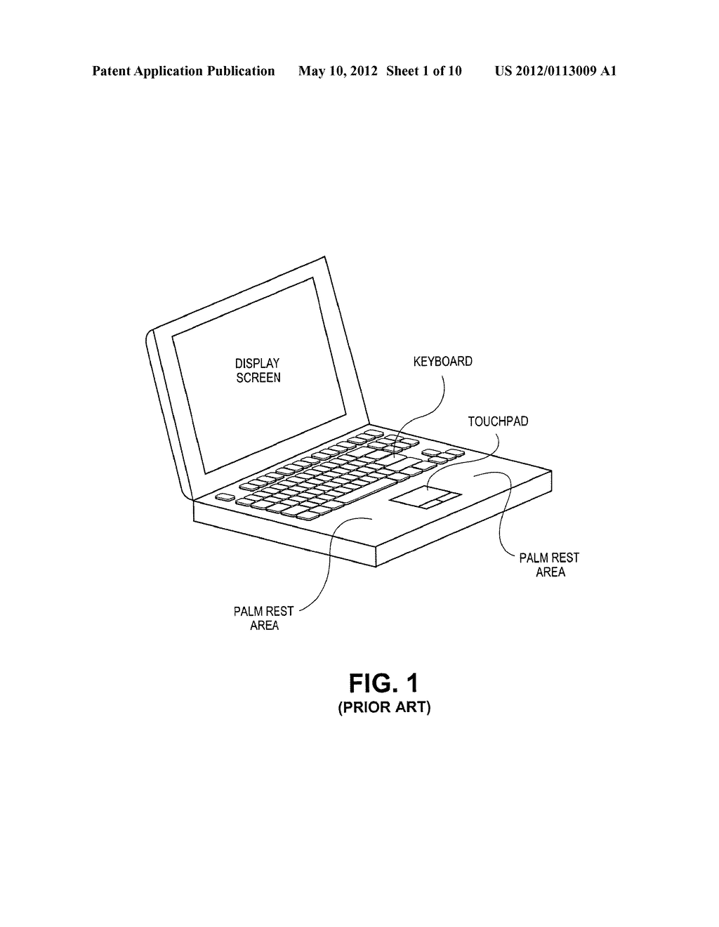 Wide Touchpad on a Portable Computer - diagram, schematic, and image 02