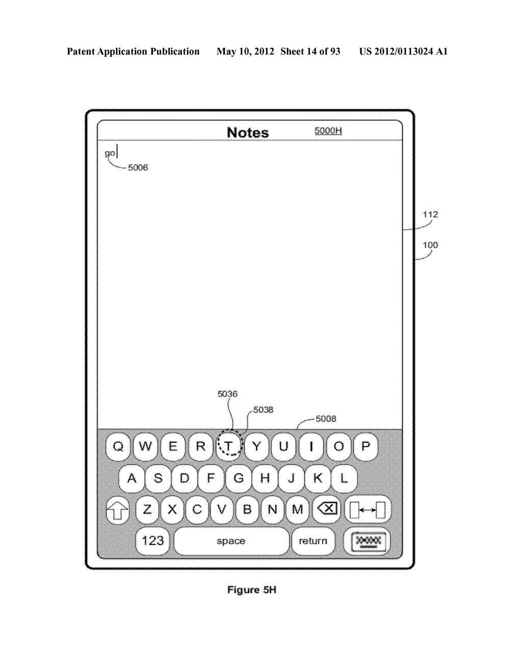 Device, Method, and Graphical User Interface for Manipulating Soft     Keyboards - diagram, schematic, and image 15