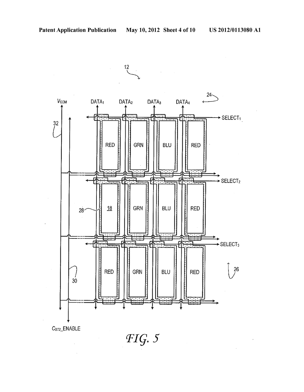 Thin-Film Transistor Liquid-Crystal Display with Variable Frame Frequency - diagram, schematic, and image 05