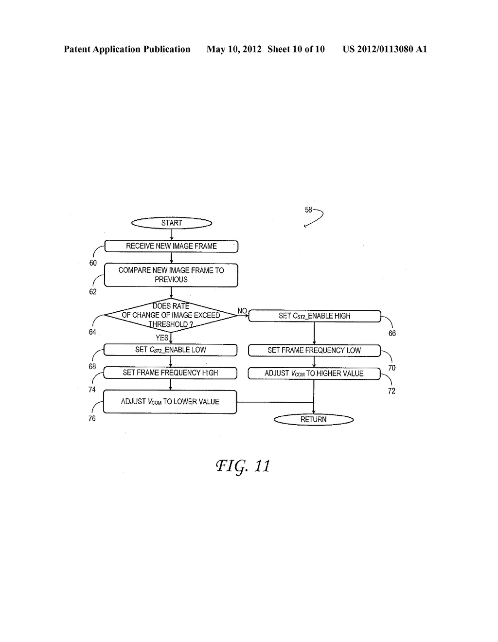 Thin-Film Transistor Liquid-Crystal Display with Variable Frame Frequency - diagram, schematic, and image 11