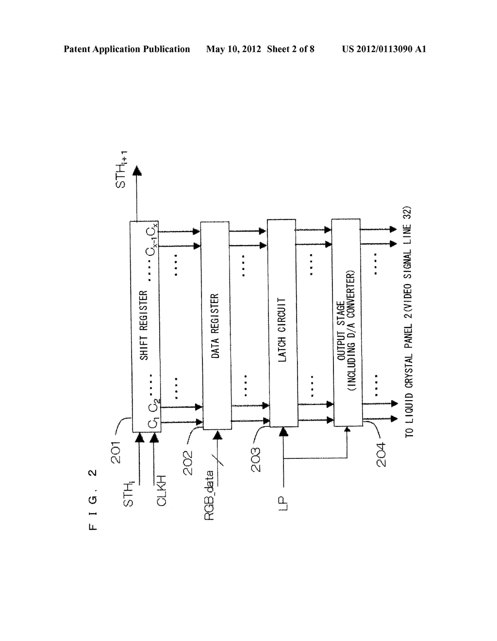 MATRIX DISPLAY DEVICE AND METHOD OF DRIVING THE SAME - diagram, schematic, and image 03