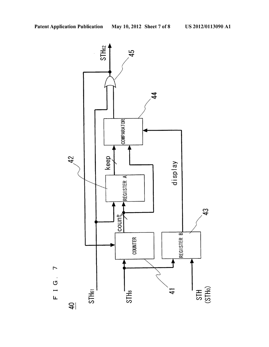 MATRIX DISPLAY DEVICE AND METHOD OF DRIVING THE SAME - diagram, schematic, and image 08
