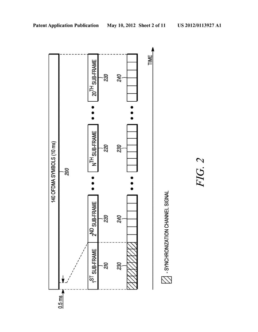 METHOD AND APPARATUS FOR INTERLEAVING SEQUENCE ELEMENTS OF AN OFDMA     SYNCHRONIZATION CHANNEL - diagram, schematic, and image 03