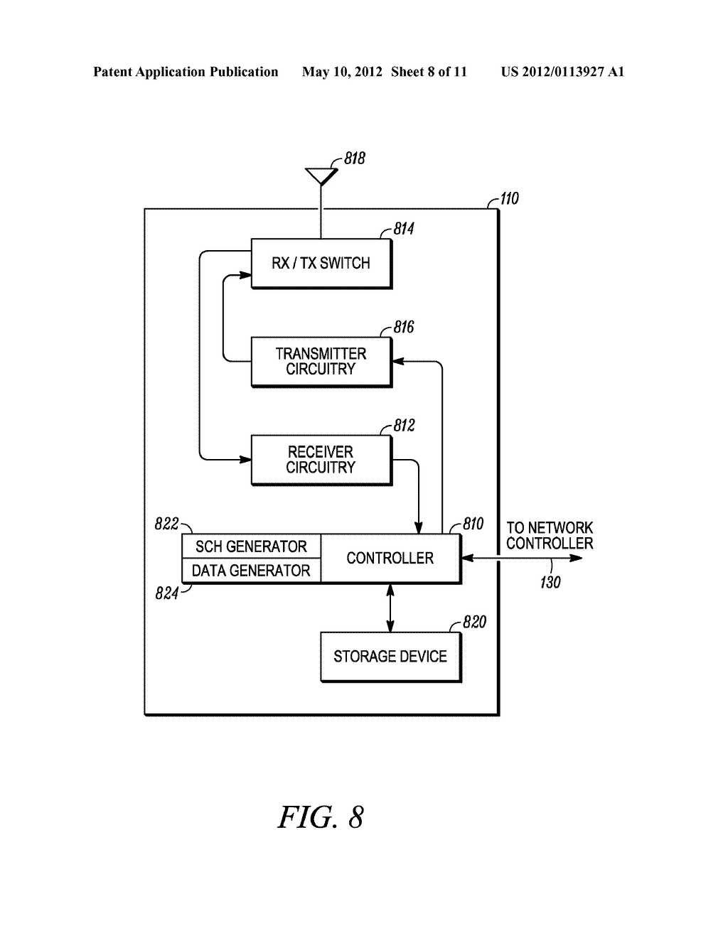 METHOD AND APPARATUS FOR INTERLEAVING SEQUENCE ELEMENTS OF AN OFDMA     SYNCHRONIZATION CHANNEL - diagram, schematic, and image 09