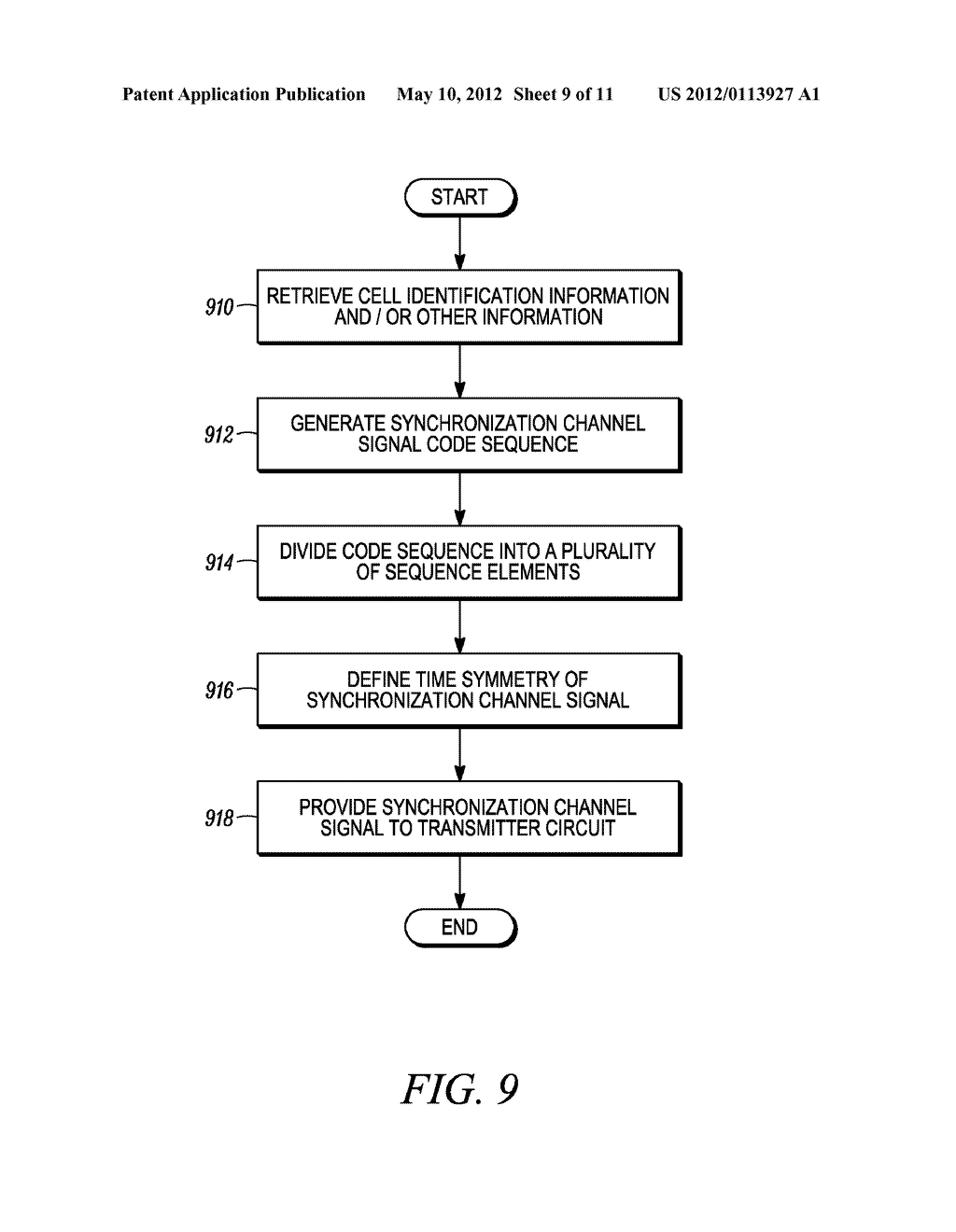 METHOD AND APPARATUS FOR INTERLEAVING SEQUENCE ELEMENTS OF AN OFDMA     SYNCHRONIZATION CHANNEL - diagram, schematic, and image 10