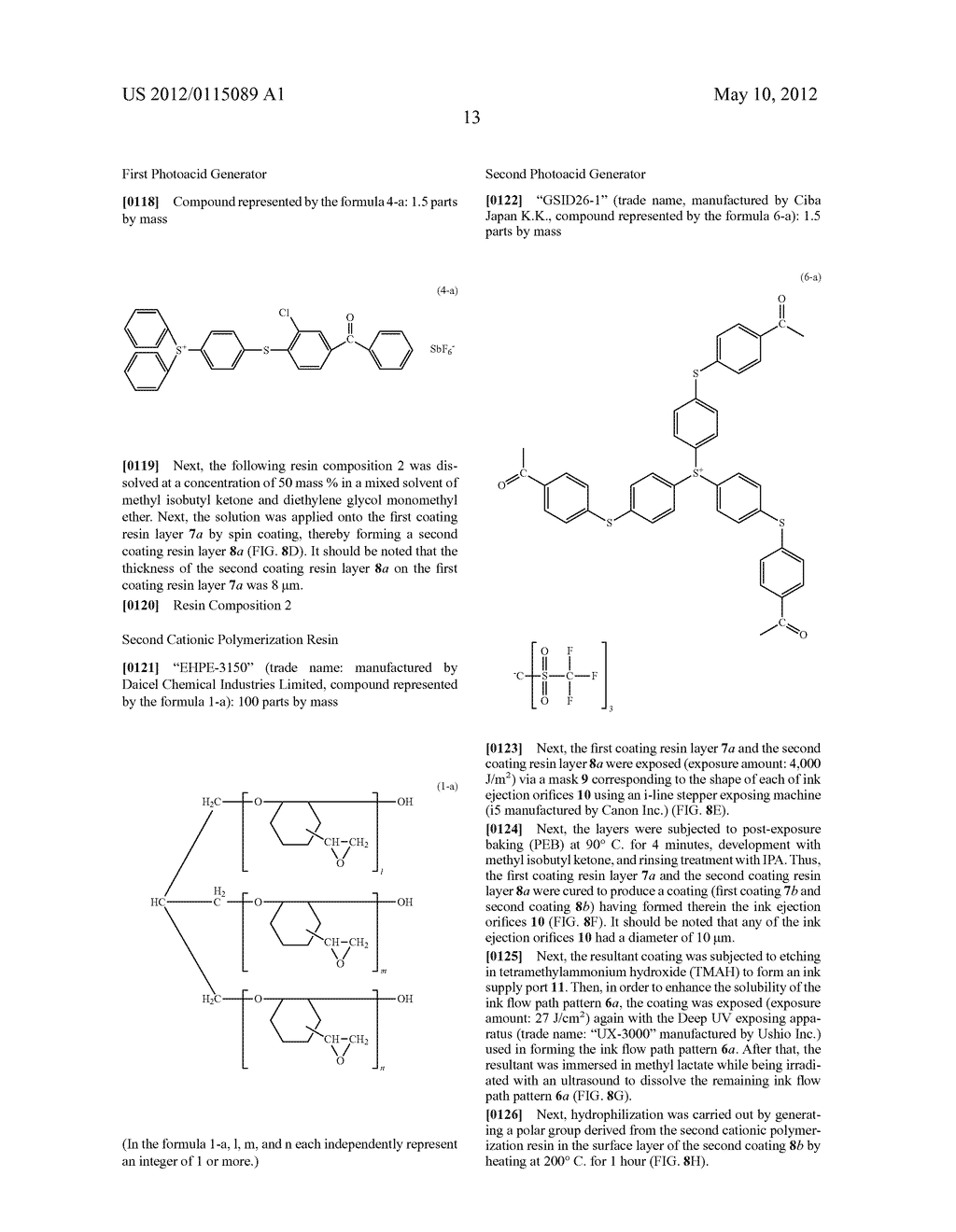 PROCESS FOR FORMING A HYDROPHILIC COATING AND HYDROPHILIC COATING, AND     PROCESS FOR FORMING AN INK JET RECORDING HEAD AND INK JET RECORDING HEAD - diagram, schematic, and image 19