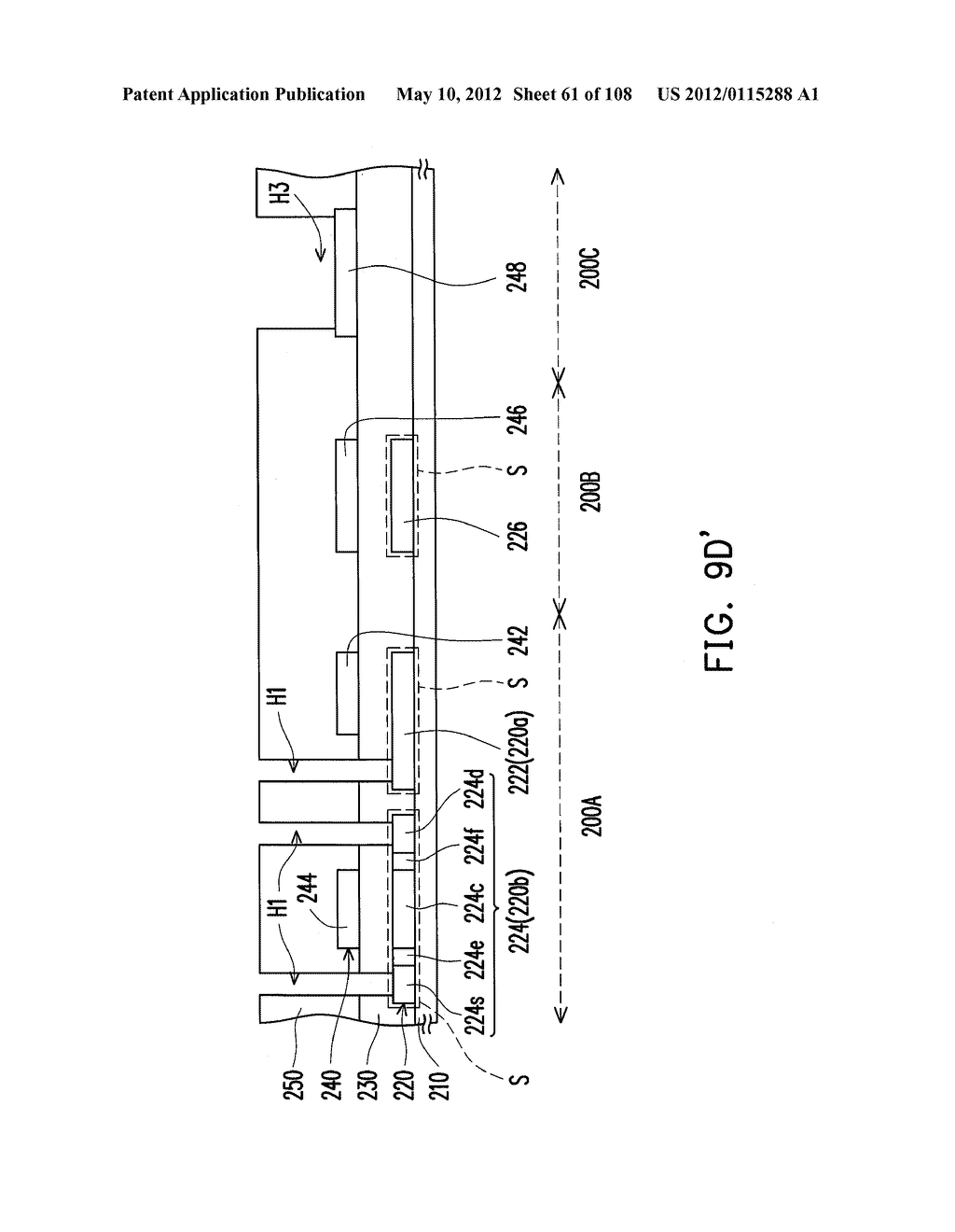 METHOD FOR FABRICATING ACTIVE DEVICE ARRAY SUBSTRATE - diagram, schematic, and image 62