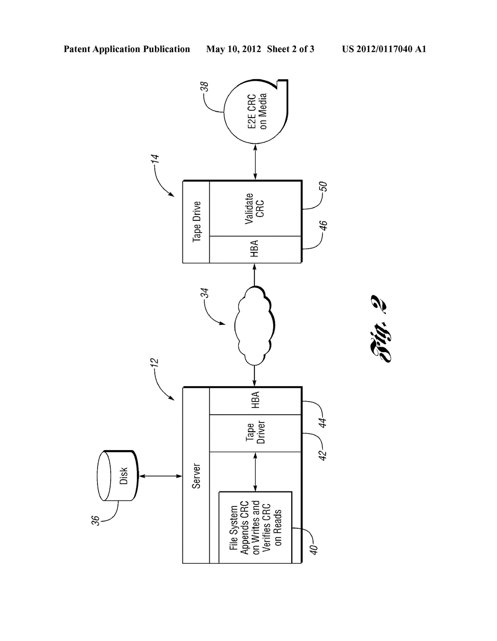 Method and System for Verifying Data Stored on a Medium - diagram, schematic, and image 03