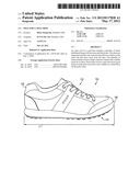 SOLE FOR A GOLF SHOE diagram and image