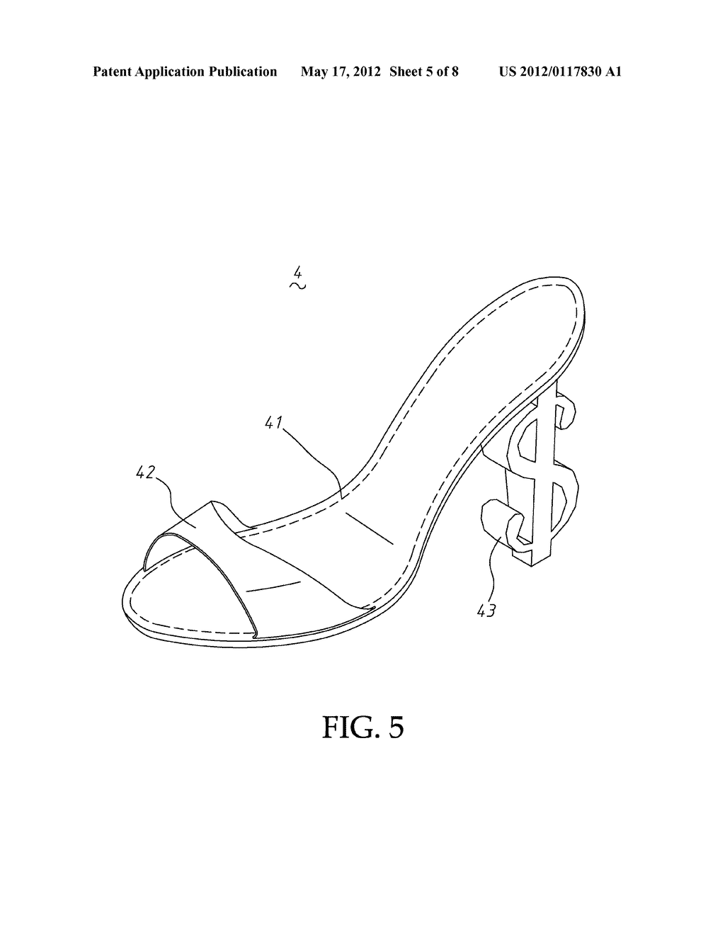 STRUCTURE OF A HIGH-HEELED SHOE - diagram, schematic, and image 06