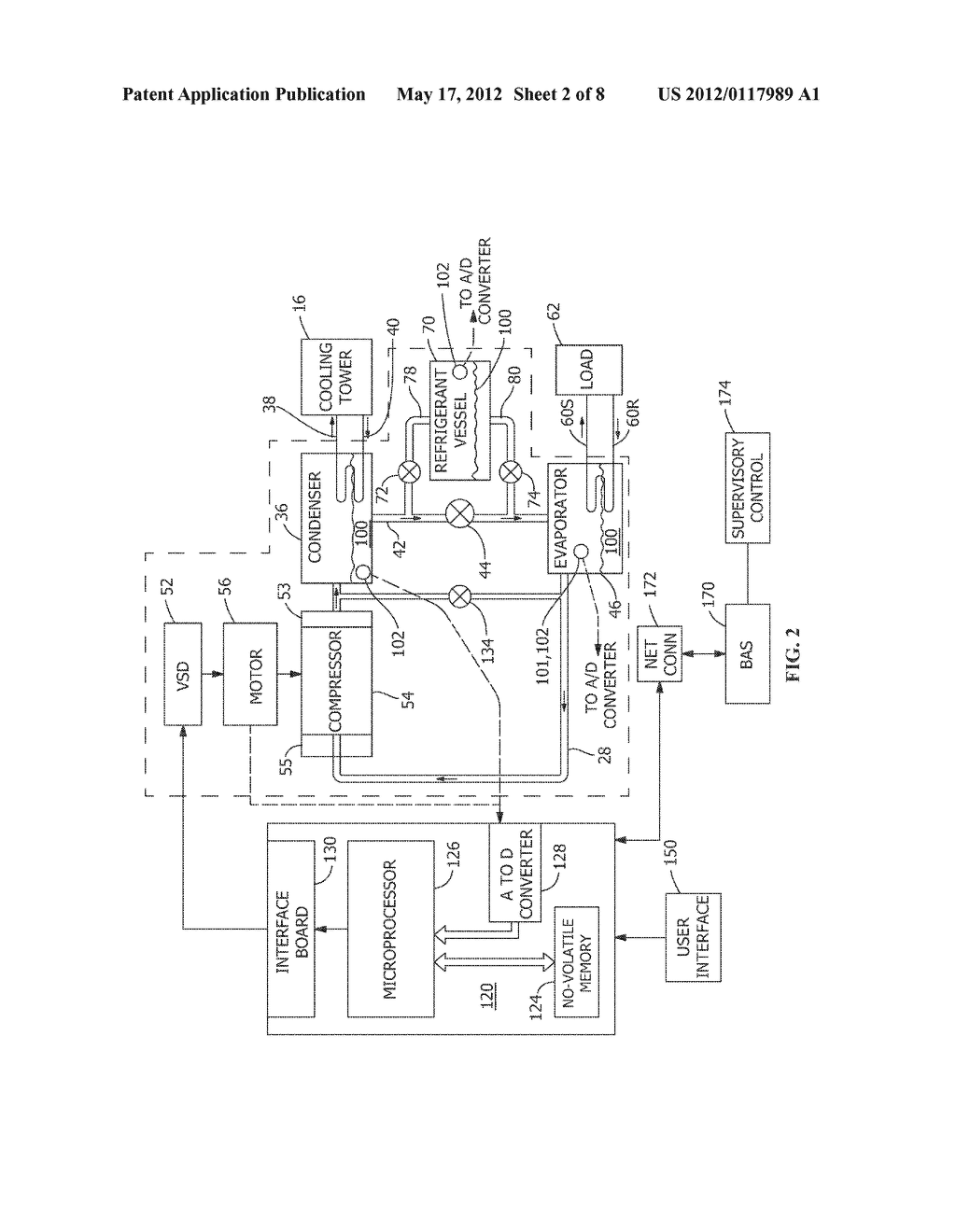 METHOD AND APPARATUS FOR VARIABLE REFRIGERANT CHILLER OPERATION - diagram, schematic, and image 03