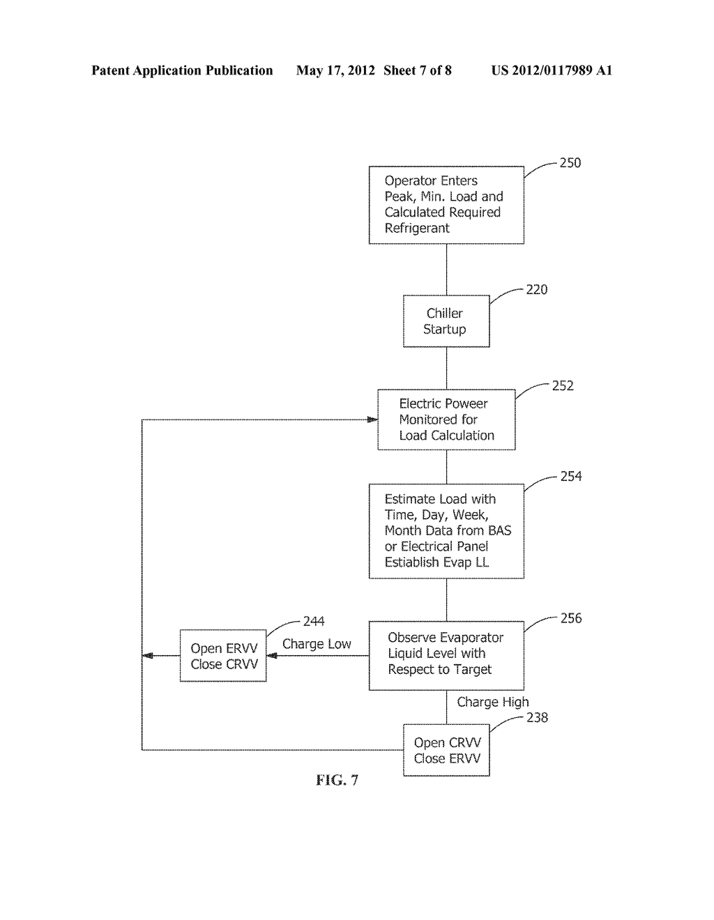 METHOD AND APPARATUS FOR VARIABLE REFRIGERANT CHILLER OPERATION - diagram, schematic, and image 08
