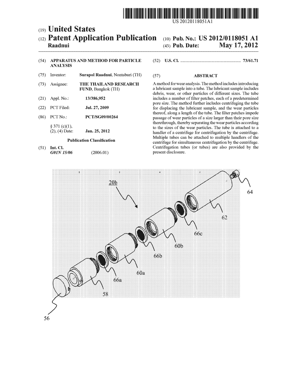 APPARATUS AND METHOD FOR PARTICLE ANALYSIS - diagram, schematic, and image 01