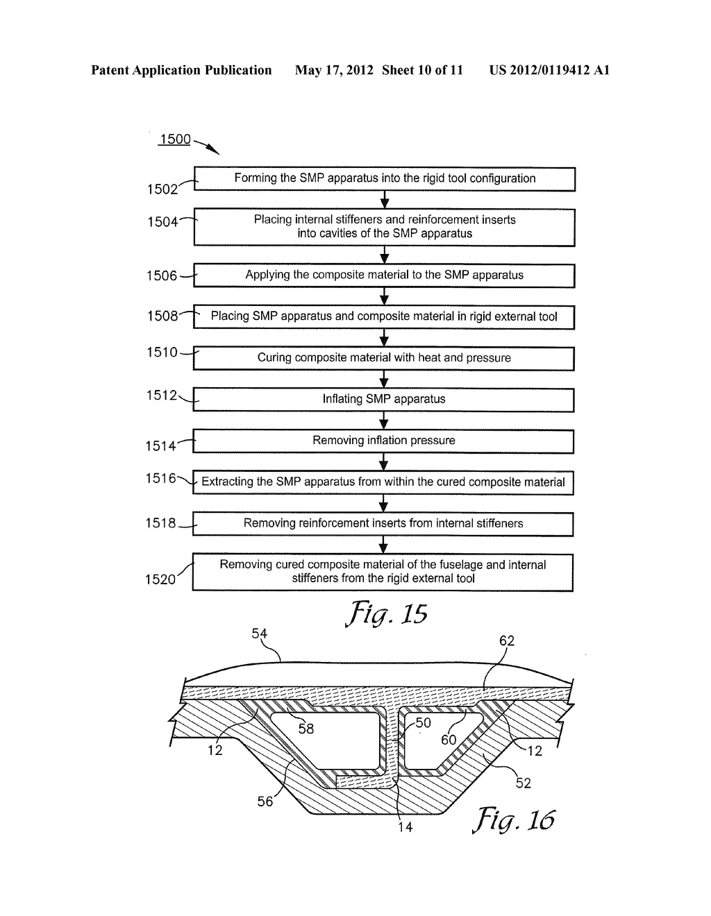 METHOD FOR REMOVING A SMP APPARATUS FROM A CURED COMPOSITE PART - diagram, schematic, and image 11