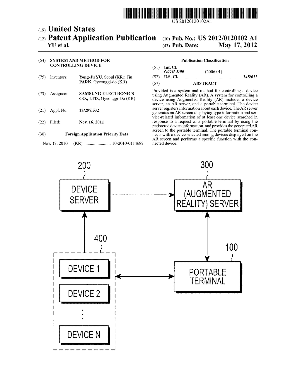SYSTEM AND METHOD FOR CONTROLLING DEVICE - diagram, schematic, and image 01