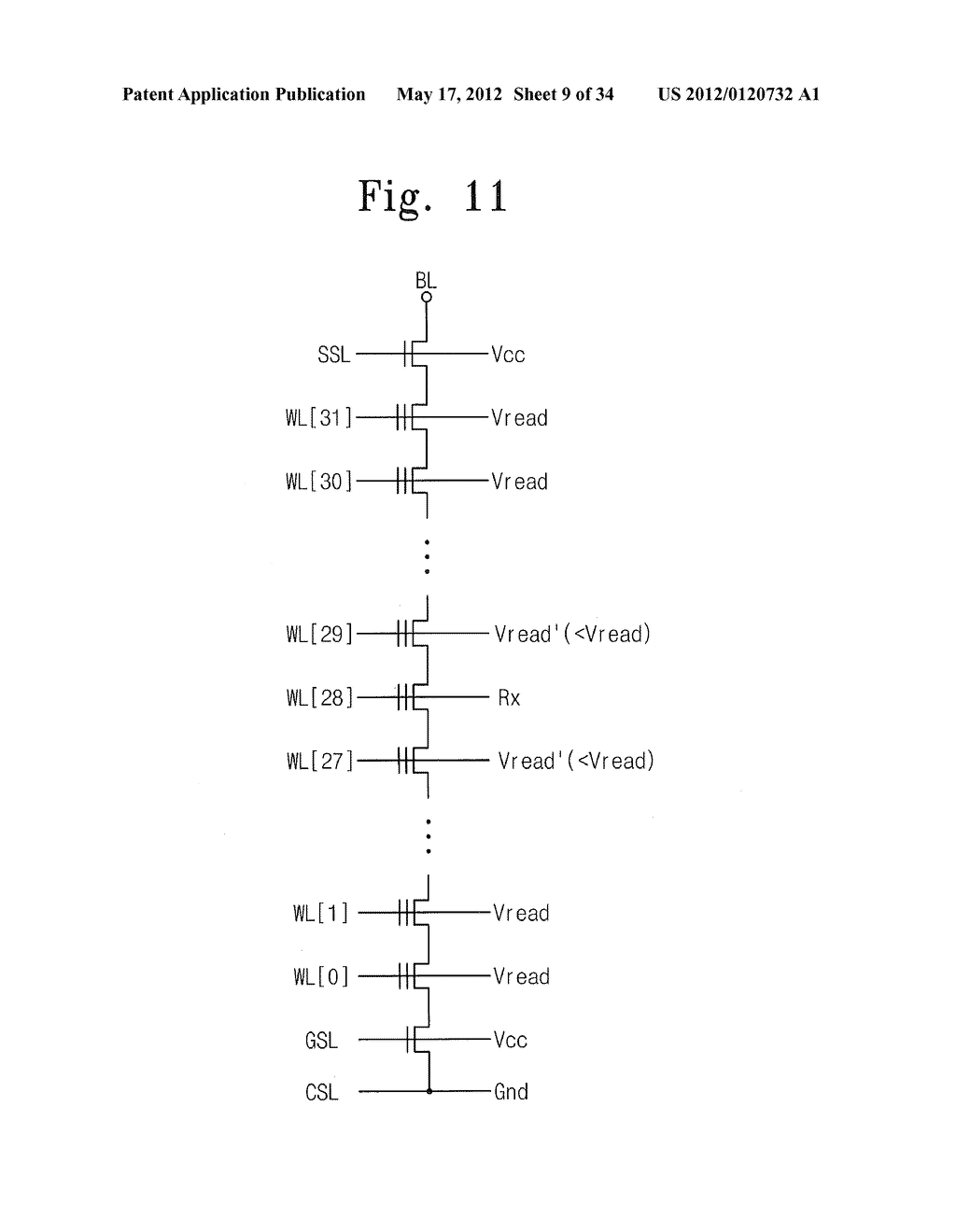 NONVOLATILE MEMORY DEVICE AND READ METHOD THEREOF - diagram, schematic, and image 10