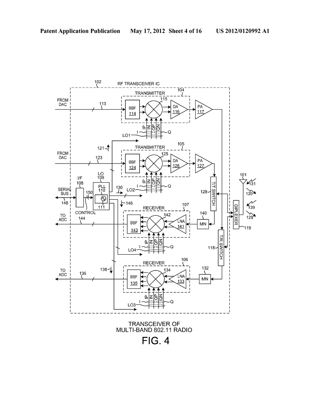 LO GENERATION AND DISTRIBUTION IN A MULTI-BAND TRANSCEIVER - diagram, schematic, and image 05