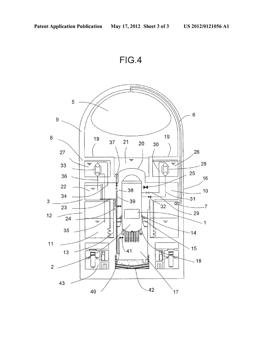 REACTOR CONTAINMENT VESSEL AND NUCLEAR POWER PLANT USING THE SAME - diagram,  schematic, and image 04