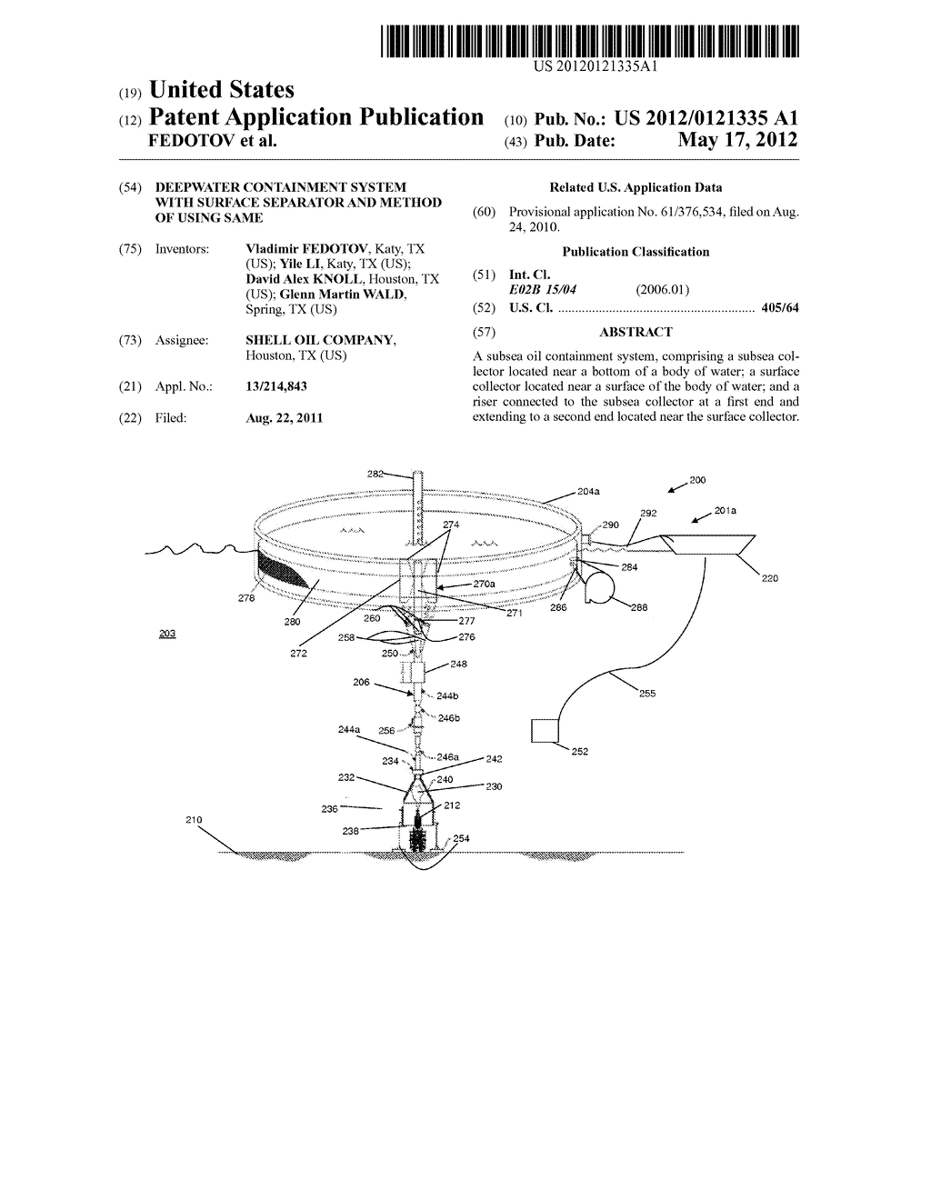 DEEPWATER CONTAINMENT SYSTEM WITH SURFACE SEPARATOR AND METHOD OF USING     SAME - diagram, schematic, and image 01