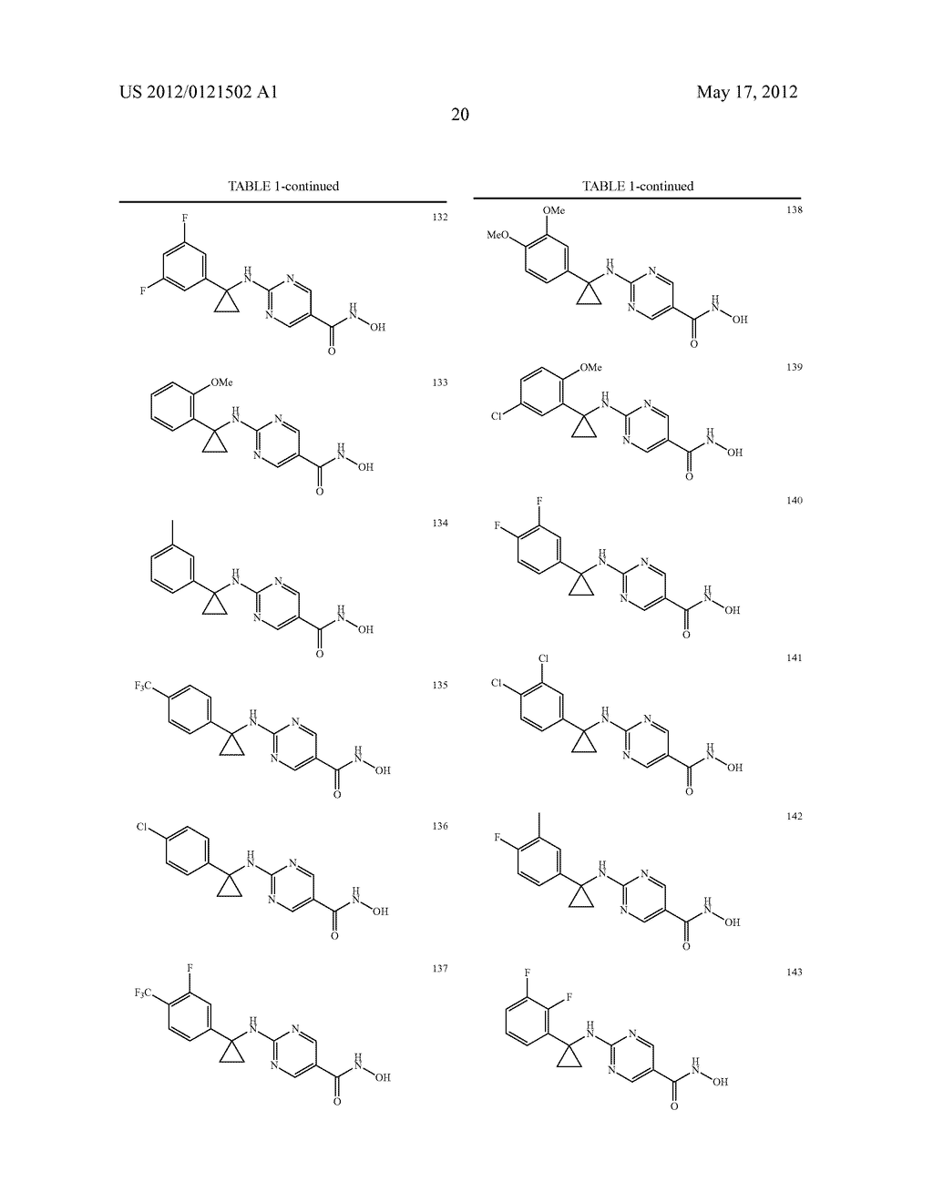 PYRIMIDINE HYDROXY AMIDE COMPOUNDS AS PROTEIN DEACETYLASE INHIBITORS AND     METHODS OF USE THEREOF - diagram, schematic, and image 21