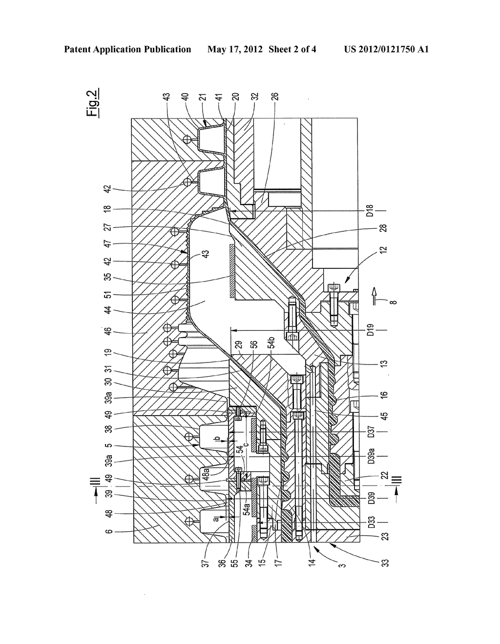 DEVICE FOR PRODUCING PIPES MADE OF THERMOPLASTIC - diagram, schematic, and image 03