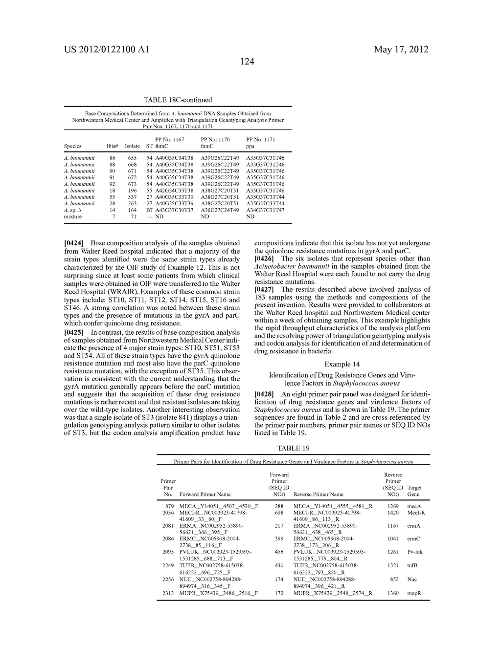 COMPOSITIONS FOR USE IN IDENTIFICATION OF BACTERIA - diagram, schematic, and image 132