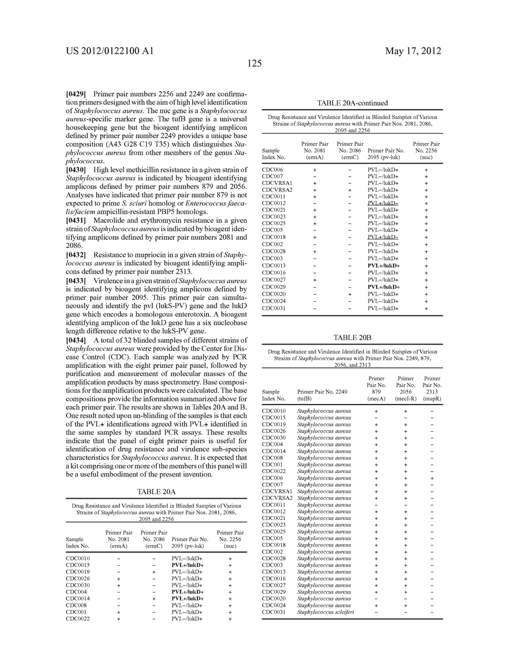COMPOSITIONS FOR USE IN IDENTIFICATION OF BACTERIA - diagram, schematic, and image 133