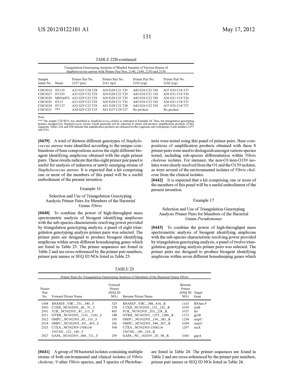 COMPOSITIONS FOR USE IN IDENTIFICATION OF BACTERIA - diagram, schematic, and image 137