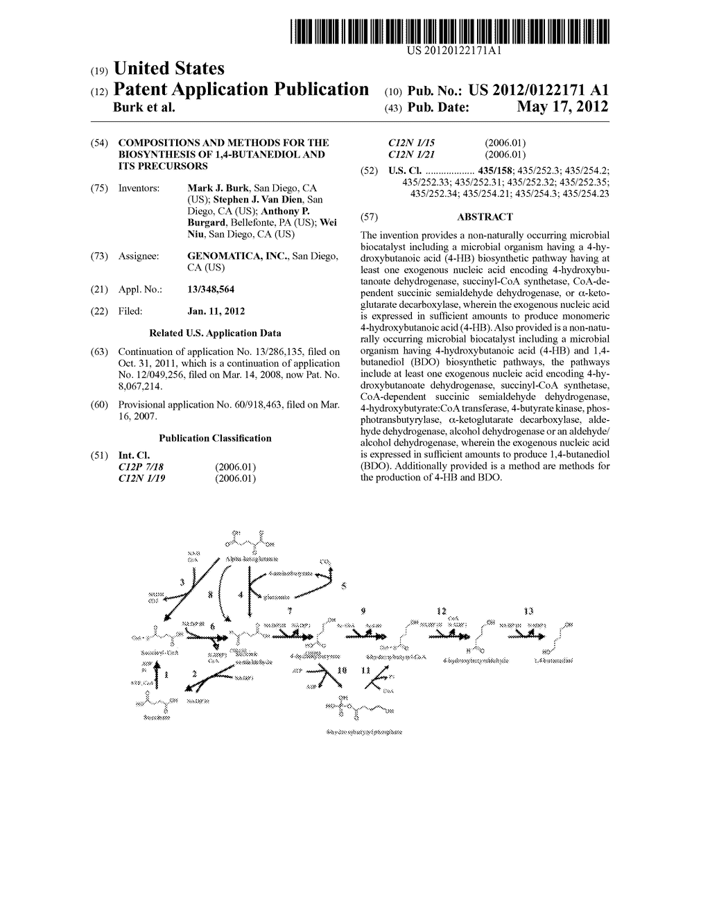 COMPOSITIONS AND METHODS FOR THE BIOSYNTHESIS OF 1,4-BUTANEDIOL AND ITS     PRECURSORS - diagram, schematic, and image 01