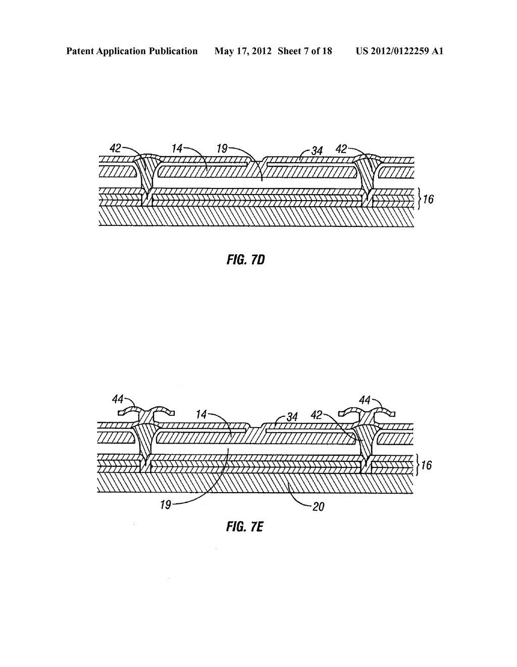 METHOD OF MANUFACTURING MEMS DEVICES PROVIDING AIR GAP CONTROL - diagram, schematic, and image 08