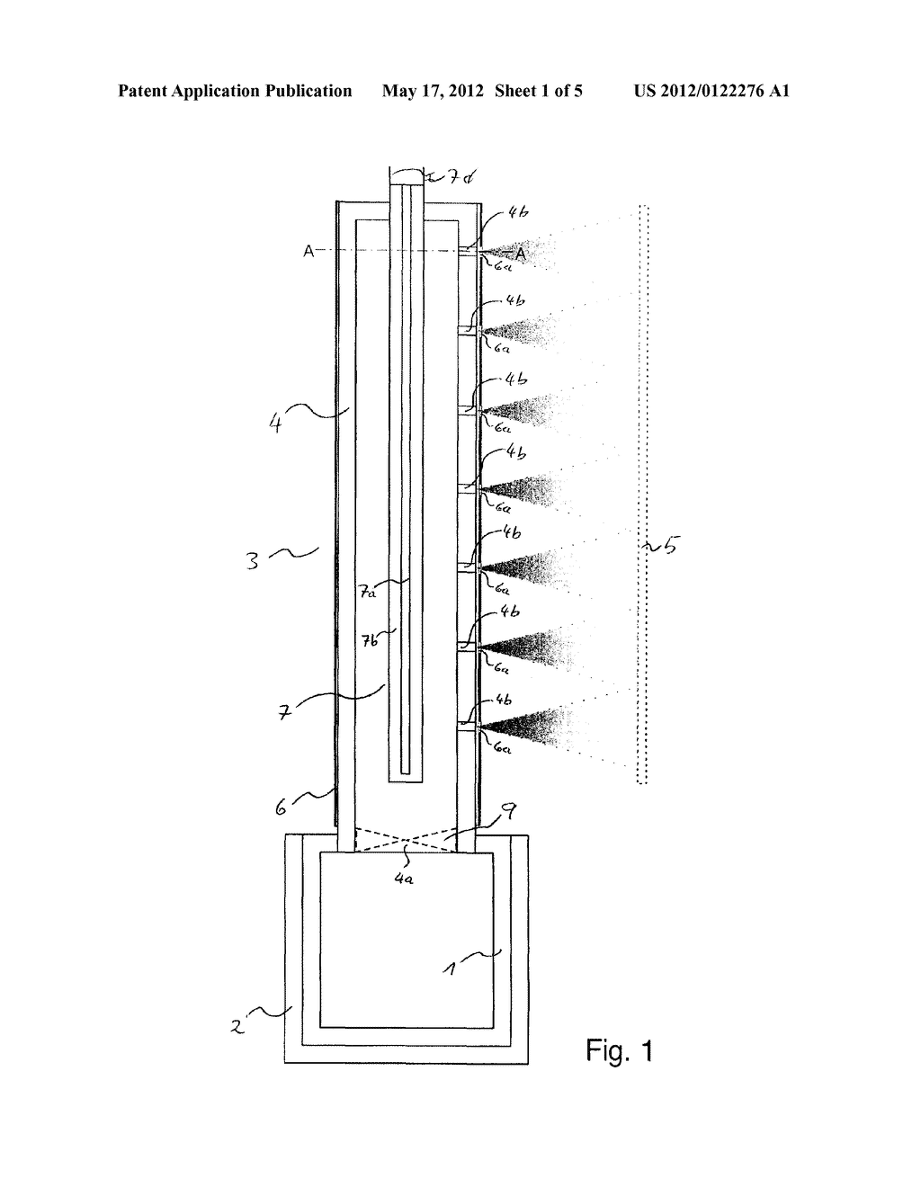THERMAL EVAPORATION APPARATUS, USE AND METHOD OF DEPOSITING A MATERIAL - diagram, schematic, and image 02