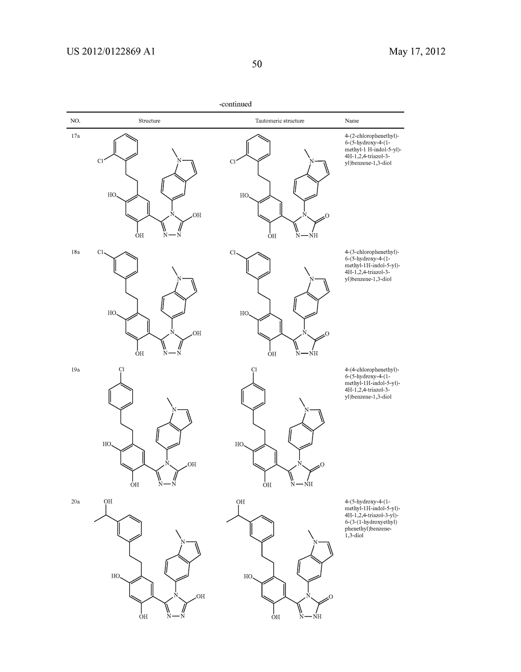 TRIZAOLE COMPOUNDS THAT MODULATE HSP90 ACTIVITY - diagram, schematic, and image 51