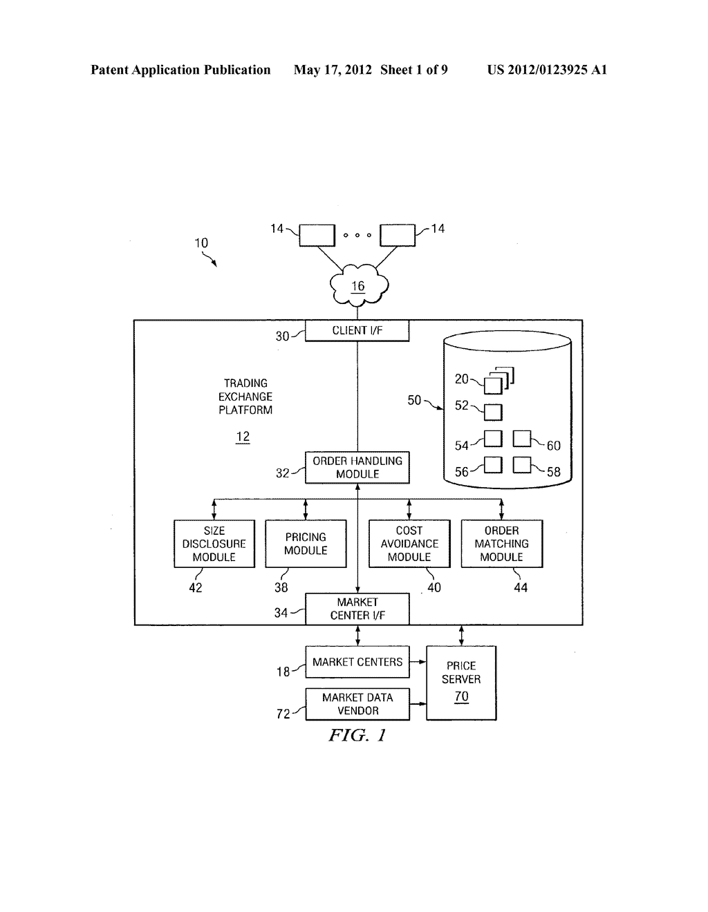 SYSTEM AND METHOD FOR ROUTING A TRADING ORDER ACCORDING TO PRICE - diagram, schematic, and image 02