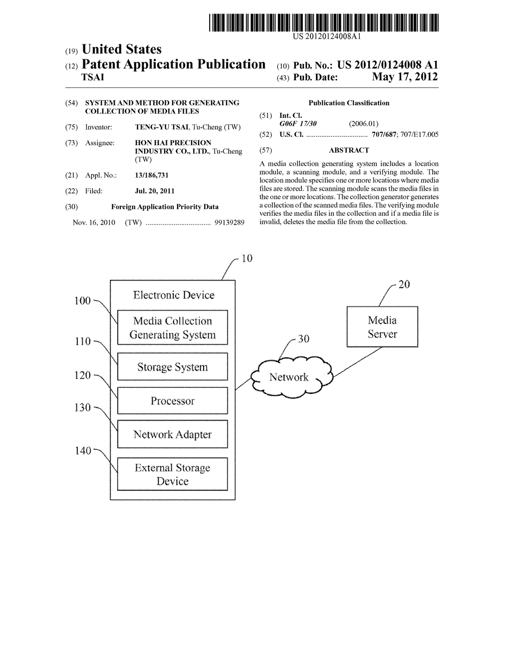 SYSTEM AND METHOD FOR GENERATING COLLECTION OF MEDIA FILES - diagram, schematic, and image 01